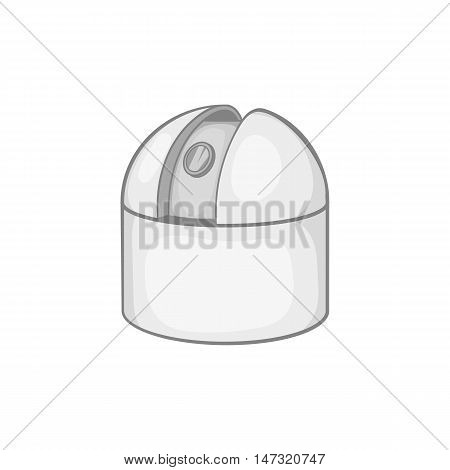 Astronomical observatory icon in black monochrome style on a white background vector illustration