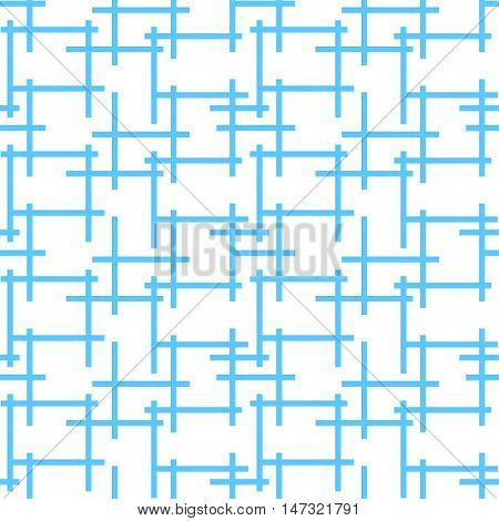 Seamless background pattern with abstract endless blue net maze looking like crossword intersections. Vector illustration eps 10