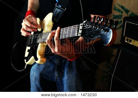 Guitarist Play Rock Guitar