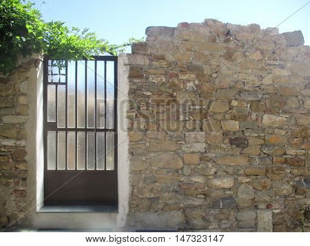 gate in a wall