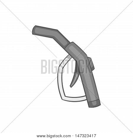 Gasoline pump nozzle icon in black monochrome style on a white background vector illustration