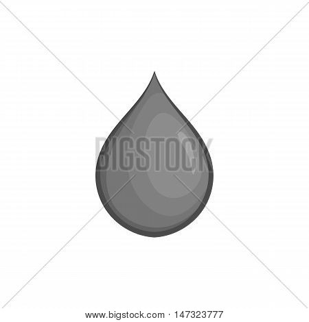 Oil drop icon in black monochrome style on a white background vector illustration