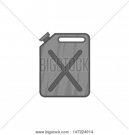 Jerrycan icon in black monochrome style on a white background vector illustration