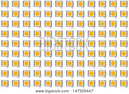 Group of LED light panel texture background.