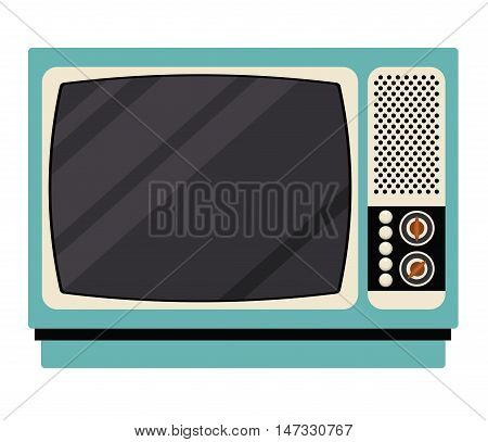 Television icon. retro technology gadget and antique theme. Isolated design. Vector illustration