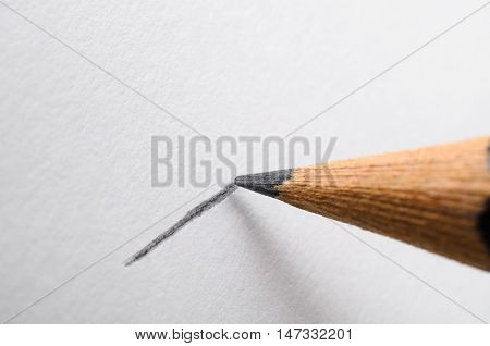 Pencil Drawing A Line Macro