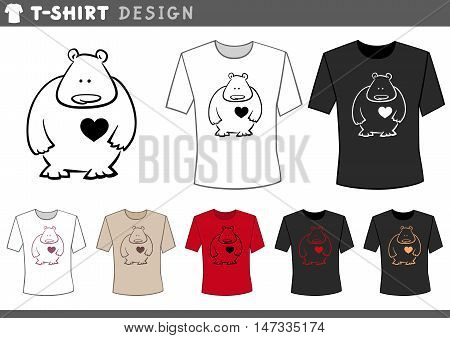 T Shirt With Teddy In Love