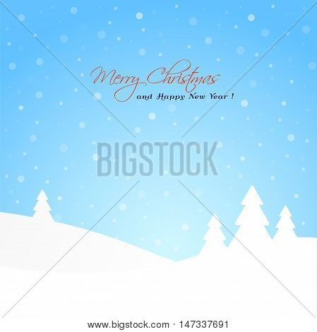 Winter background with tree and snow.Useful pentru Christmas and New Year background