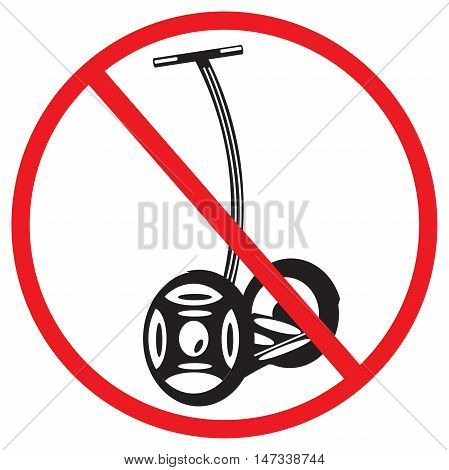 sign Electric scooters prohibited on a white background