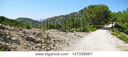 Path In The Mountains, Panorama