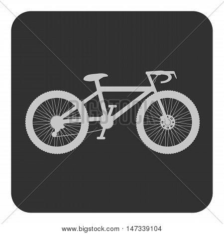 Bike button on white background. Vector illustration.