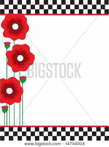 Poppies And Checks
