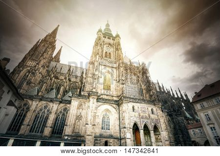 St. Vitus Cathedral in Prague. Monuments of Prague.