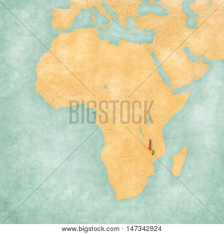 Map Of Africa - Malawi