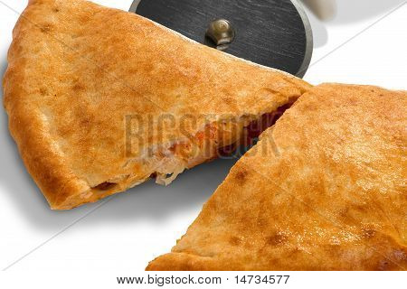 Calzone On White