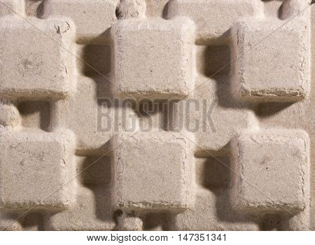 Background convex surface texture and the carton