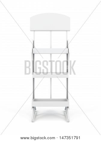 Trade Stand Isolated On White Background. 3D Rendering