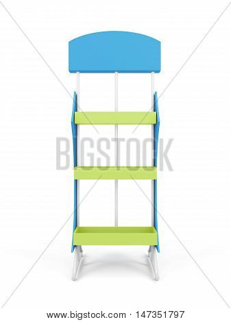 Trade Rack Isolated On White Background. 3D Rendering