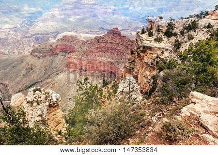 Grand Canyon National Park at South Rim Arizona USA
