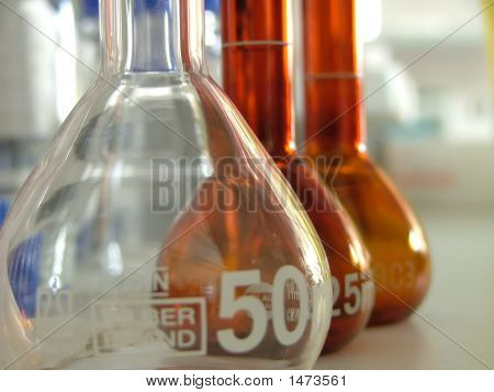 Laboratory Equipment, Empty Glass Bottles