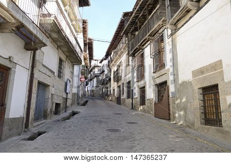 Candelario a typical mountain village in the province of Salamanca Spain.