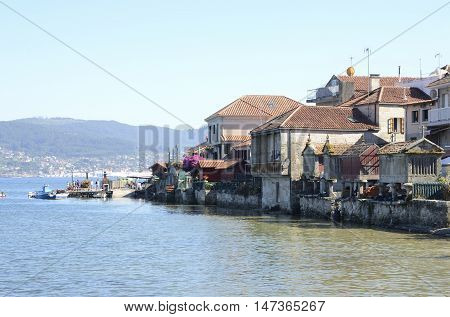 COMBARRO, SPAIN - AUGUST 6, 2016: Combarro a village of the province of Pontevedra in the Galicia region of Spain.