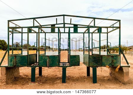 Starting Gate Of A Rural Racecourse In Catamarca, Argentina
