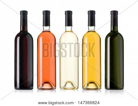 Set Of Wine Bottles.