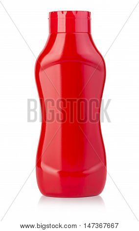 Bottle Of Ketchup Isolated On White