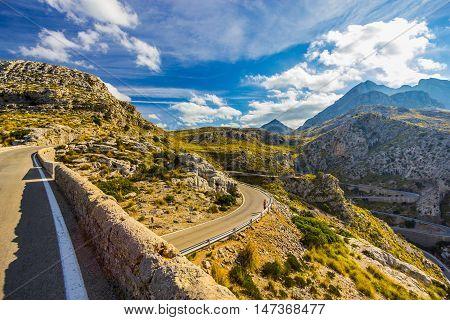 Beautiful view of Sa Calobra on Mallorca Island Spain