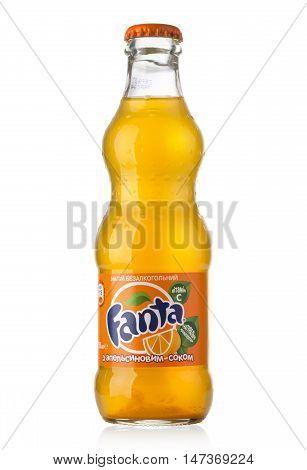 Glass Bottle Of Fanta Orange