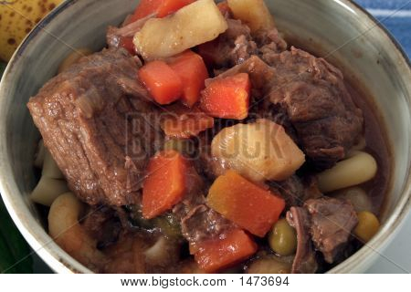 Texas Beef Soup, Closeup