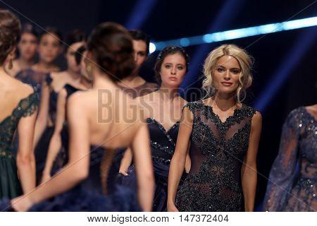 Sofia Fashion Week Female Models Blonde