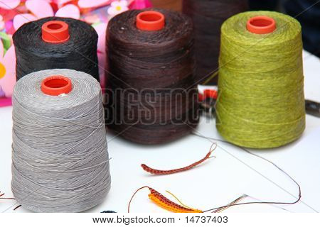 Spool Of Thread  On A Background