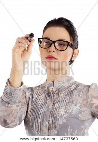 Elegant Woman Writing