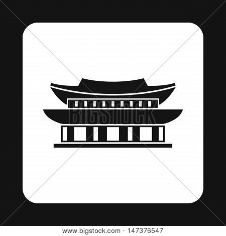 Pagoda in South Korea icon in simple style isolated on white background. Landmark symbol vector illustration