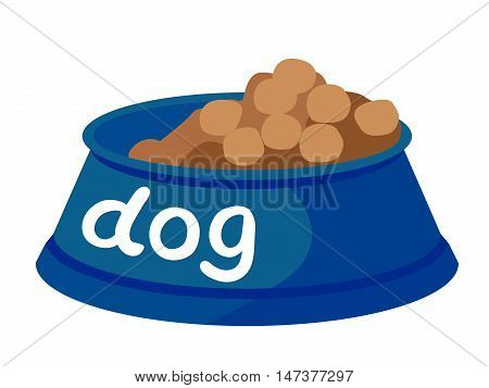 Vector illustration on a white background. Dog food.