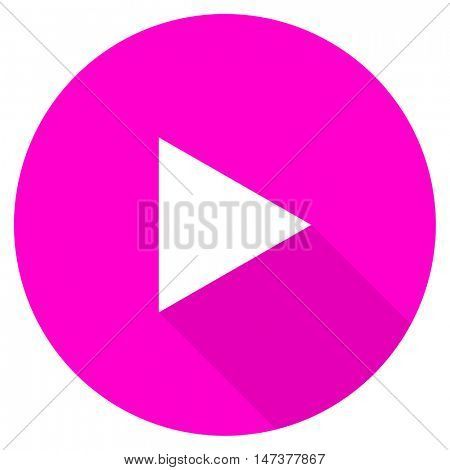 play flat pink icon