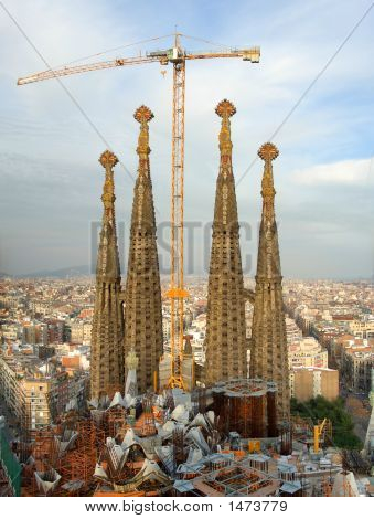 Building Sagrada Familia, Barcelona, Spain