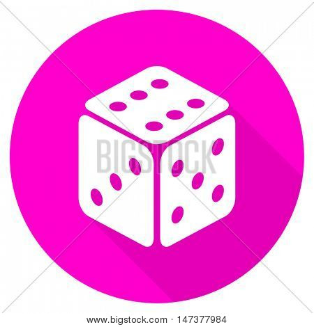 game flat pink icon