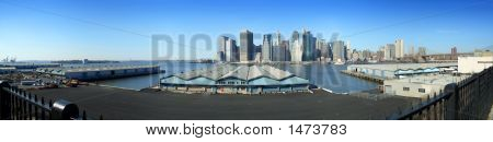Brooklyn Piers And Lower Manhattan Panoramic View