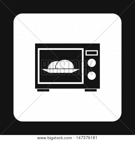Microwave icon in simple style isolated on white background. Home appliances symbol vector illustration