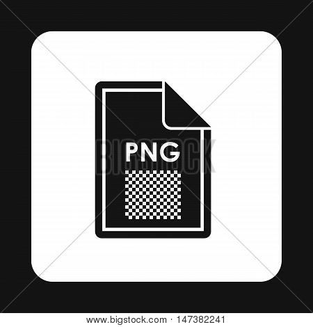 File PNG icon in simple style isolated on white background. Document type symbol vector illustration