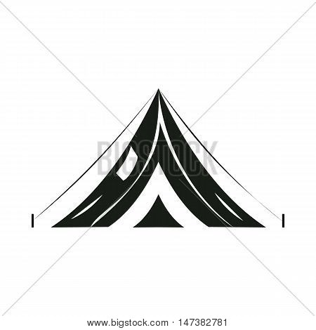Tent icon in simple style isolated on white background. Tourism symbol vector illustration