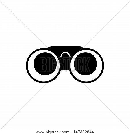 Binoculars icon in simple style isolated on white background. Watch symbol vector illustration