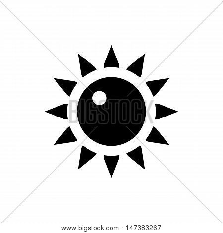 Sun icon in simple style isolated on white background. Heat symbol vector illustration