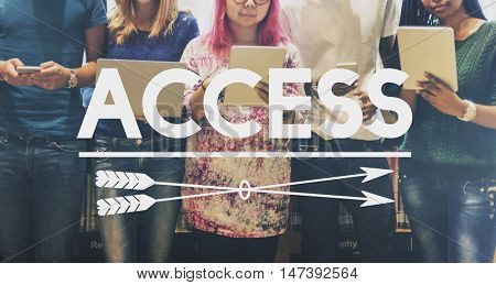 Access Availability Possible Unlock Usable Free Concept