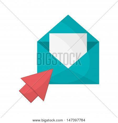 flat design message envelope and envelope  icon vector illustration