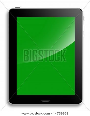 Tablet Computer or pad, green screen