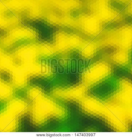 Background With Colorful Hex Grid